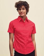 Ladies Short Sleeve Poplin Shirt